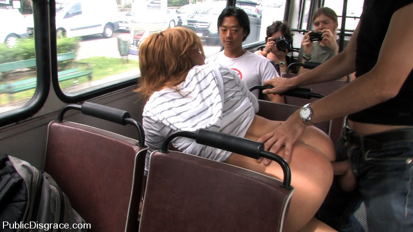 Girls fucked in public on buses