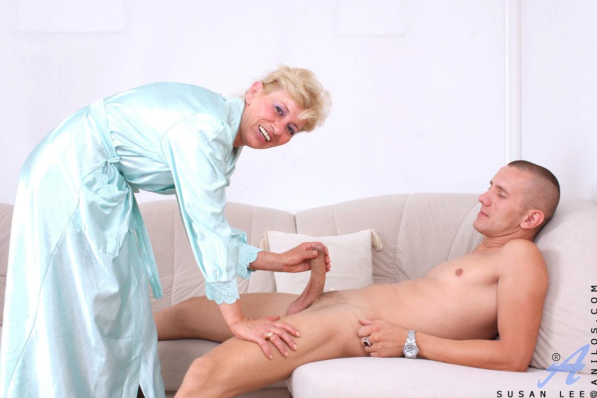 anilos granny Horny blonde granny having sex in pantyhose.