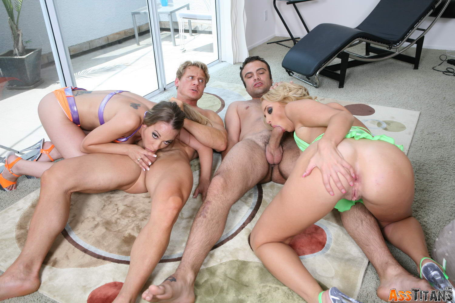 group doing anal penetration