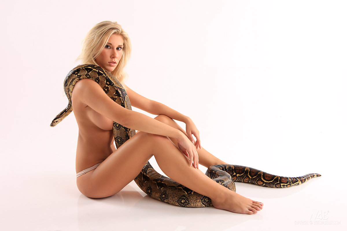 Nude babes with snakes idea