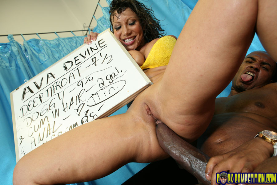 Busty ebony babes vanessa and angel compete for a big cock in groupsex