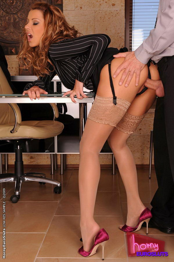 Secretary stockings Horny