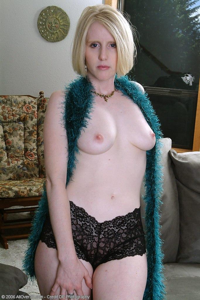 Pale blonde milf naked