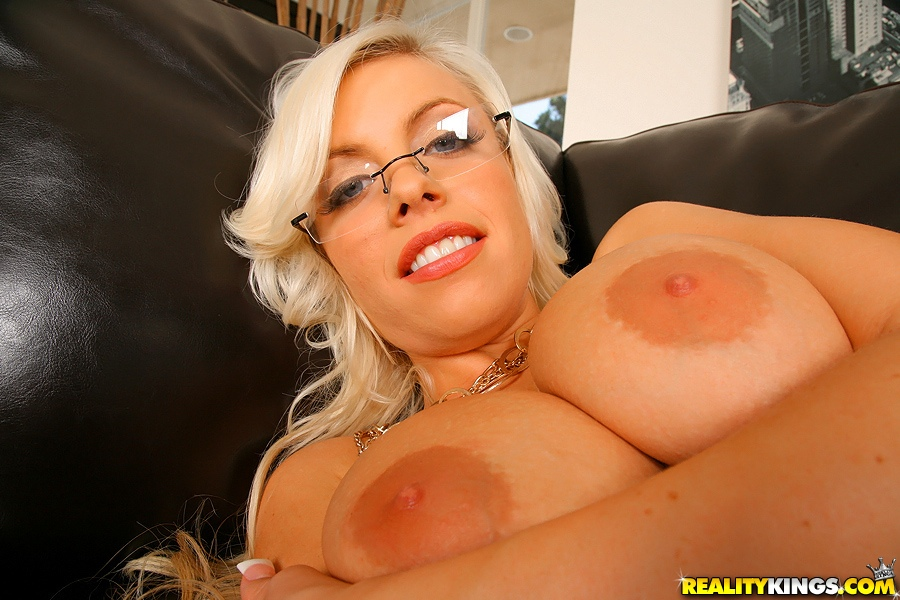 Home » Big Tits » Zuzana - Big tits pornstar with glasses takes off clothes  to pose in white lingerie and fucks hardcore with cum splattered on boobs  while ...