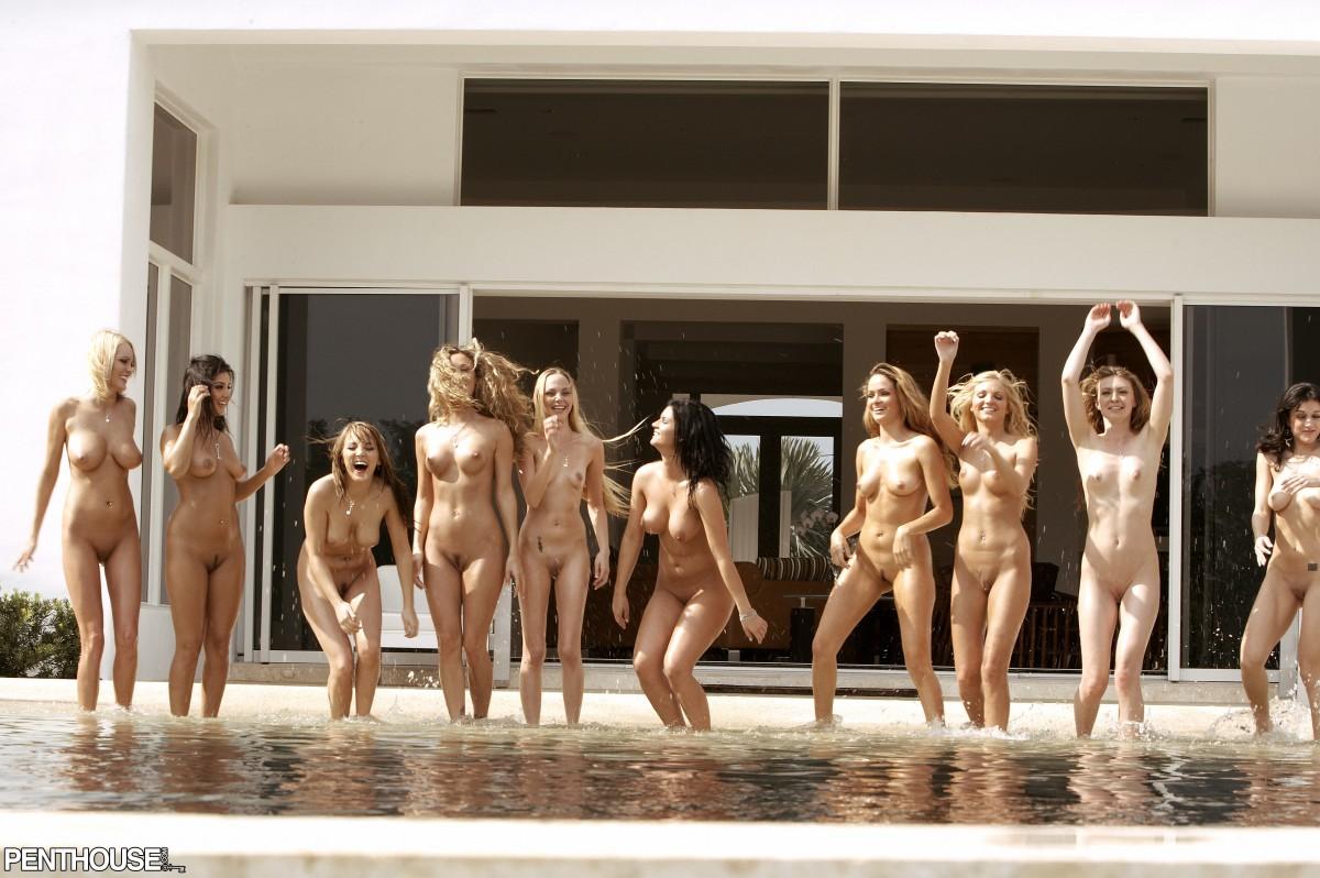 Group girls naked penthouse