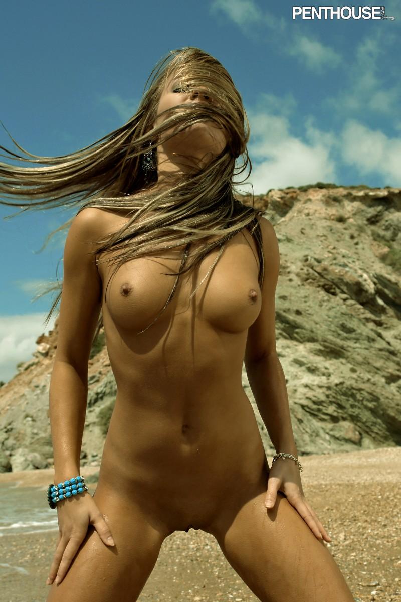 veronika fasterova beach