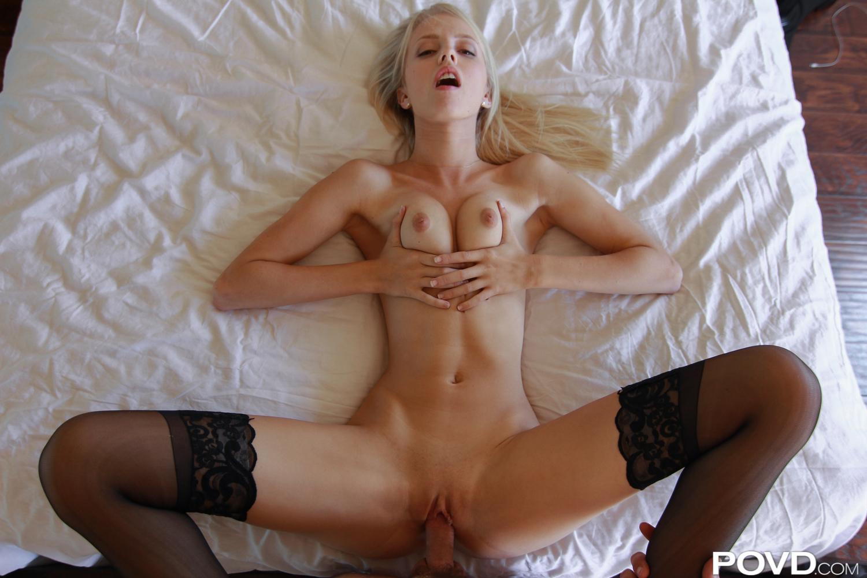 Naked girl pussy poking
