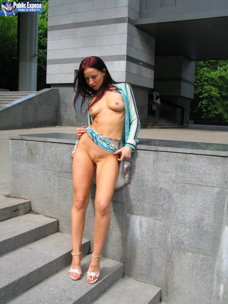 Milf naked in public
