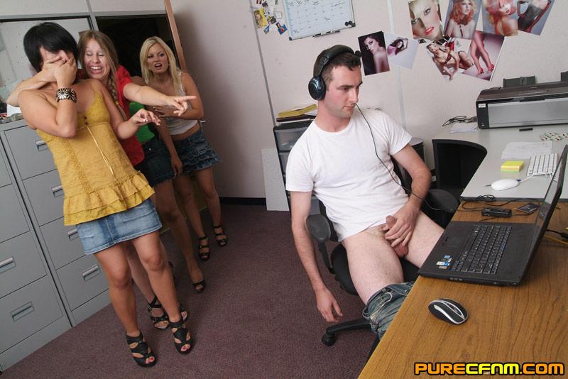 Group Girls Give Handjob