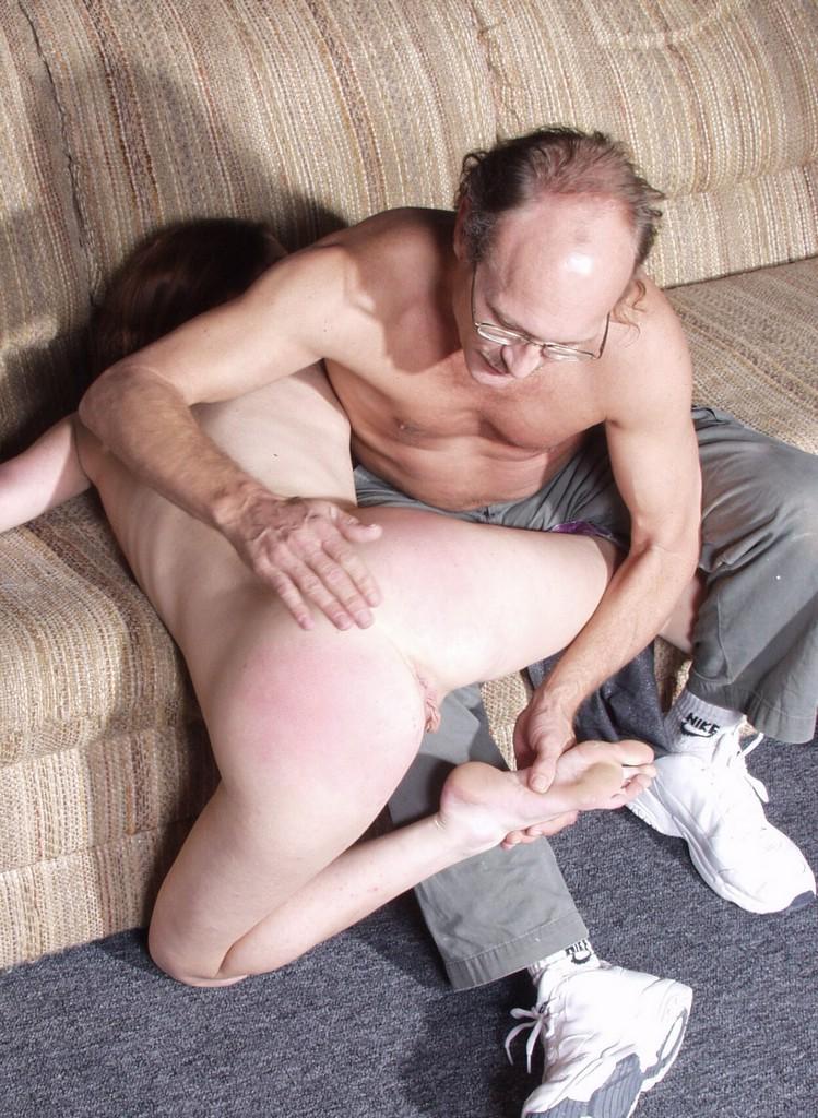 Old man spanking 10